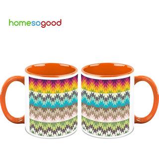 HomeSoGood Describing The Seasons Coffee Mugs (2 Mugs) (HOMESGMUG694-A)