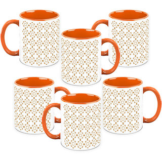 HomeSoGood A Simple Castle Coffee Mugs (6 Mugs) (HOMESGMUG1043-B)