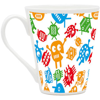 HomeSoGood Creatures With Multiple Eyes Latte Coffee Mug (HOMESGMUG1828)