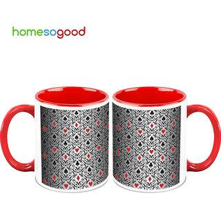 HomeSoGood The Game Of Cards Coffee Mugs (2 Mugs) (HOMESGMUG737-A)