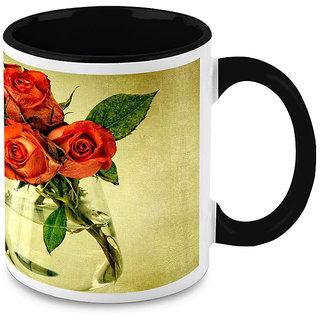 HomeSoGood Roses For You Coffee Mug (HOMESGMUG1654)