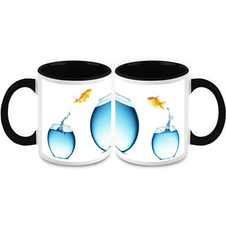 HomeSoGood I'm Not A Small Water Fish Coffee Mugs(2 Mugs) (HOMESGMUG1213-A)