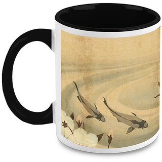 HomeSoGood Two Dolphins Coffee Mug (HOMESGMUG1650)