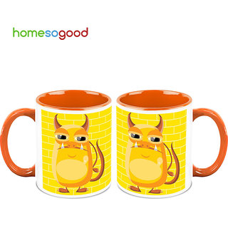 HomeSoGood Hilarious Pig Makeover Coffee Mugs (2 Mugs) (HOMESGMUG708-A)