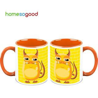 HomeSoGood Hilarious Pig Makeover Coffee Mugs (2 Mugs) (HOMESGMUG708-A)