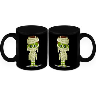 HomeSoGood Scary Mummy Coffee Mugs (2 Mugs) (HOMESGMUG1170-A)