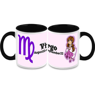 HomeSoGood Zodiac Virgo Sun Sign Coffee Mugs (2 Mugs) (HOMESGMUG1506-A)