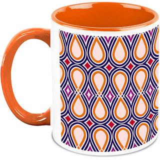 HomeSoGood Continuous Oval Structures Coffee Mug (HOMESGMUG1663)