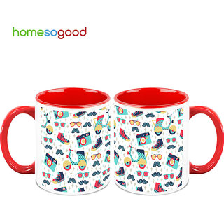 HomeSoGood Ready For A Trip Coffee Mugs (2 Mugs) (HOMESGMUG732-A)