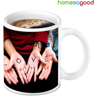 HomeSoGood Awesome Love Bonding Coffee Mug (HOMESGMUG010)