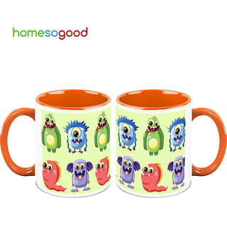HomeSoGood Aliens Mocking The Visitors Coffee Mugs (2 Mugs) (HOMESGMUG718-A)