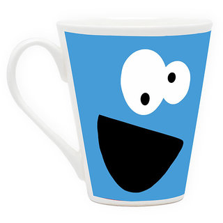 HomeSoGood Funny And Innocent Face Latte Coffee Mug (HOMESGMUG1718)
