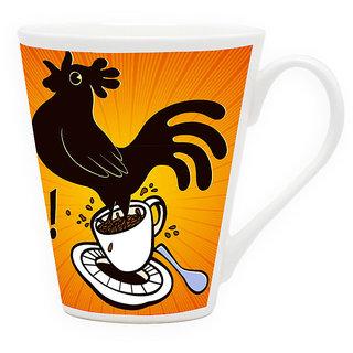 HomeSoGood The Morning Alarm Latte Coffee Mug (HOMESGMUG1729)