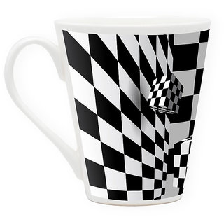 HomeSoGood Rolling The Dice Latte Coffee Mug (HOMESGMUG1736)