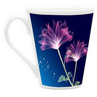 HomeSoGood Flower Glowing On Occasion Latte Coffee Mug (HOMESGMUG1708)
