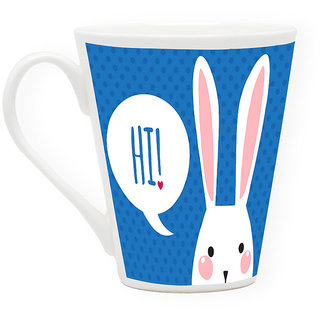 HomeSoGood Hi, How Are You Latte Coffee Mug (HOMESGMUG1723)