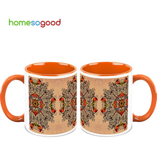HomeSoGood Art On Palace's Wall Coffee Mugs (2 Mugs) (HOMESGMUG697-A)