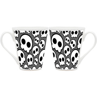 HomeSoGood Selfie With Aliens Latte Coffee Mugs (2 Mugs) (HOMESGMUG1804-A)