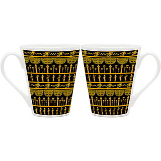 HomeSoGood The Egyptian World Latte Coffee Mugs (2 Mugs) (HOMESGMUG1827-A)