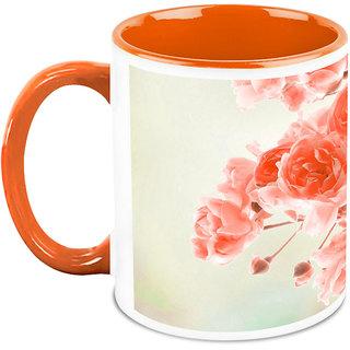 HomeSoGood Lovely Fresh Flowers Coffee Mug (HOMESGMUG1674)