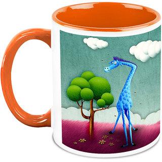 HomeSoGood Tale Of Blue Giraffe Coffee Mug (HOMESGMUG1677)
