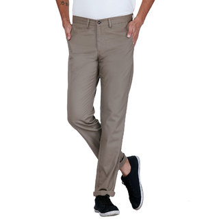 Grasim  Slim Fit Cotton Cigar brown Mens Chinos