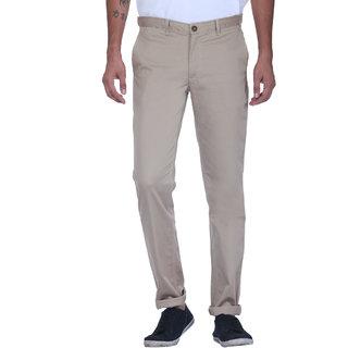 Grasim  Slim Fit Cotton Beige-4 Mens Chinos