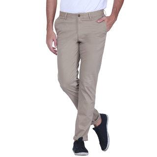 Grasim  Slim Fit Cotton beige-2 Mens Chinos