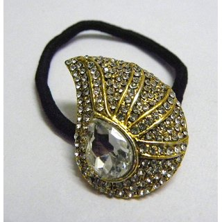 Indian Designer Exclusive Hair Band With Stone Ftd Golden (Option 8)