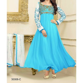 Prerna fashion firozi salwar suit dress materials....