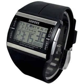 Rectangle Dial Black Fabric Strap Girls Quartz Kids Watch