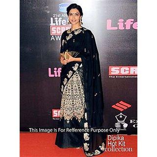 Dipika Padikone Black Velvet Bollywood Lehenga Choli