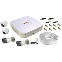 CPPLUS COMBO:4ch dvr+500GB Hardisk+720TVL camera+power supply+bnc+dc pins+90Mtr