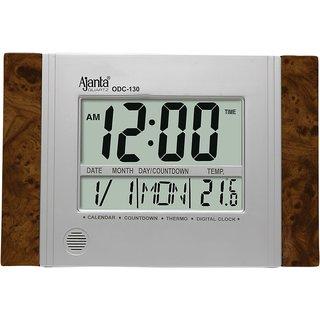 Ajanta LCD Digital Table Mini Clock ODC - 130 1yr Manufacturer Warranty