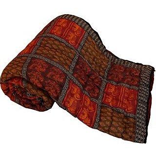 Marwal Jaipuri Print Cotton Double Bed Razai Quilt