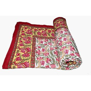 Marwal Jaipuri Hand Made Block Print  Singal Bed Quilts