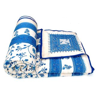 Marwal Beautiful Printed Jaipuri Double Bed Quilt