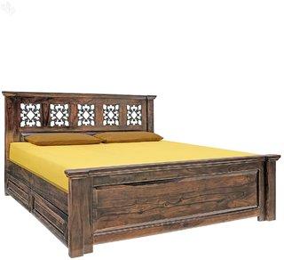 inhouz king size (6x6.5) bed with storage