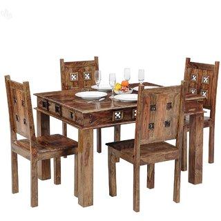 Buy inhouz 4 seater dining table with chair Online - Get 44% Off eebb0cfb3