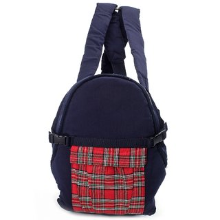 Fab N Funky 2 Way Baby Carrier Check Pattern - Blue N Red