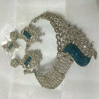 BFI Beautiful Designer Wedding  Engagement Neckless with mang tika