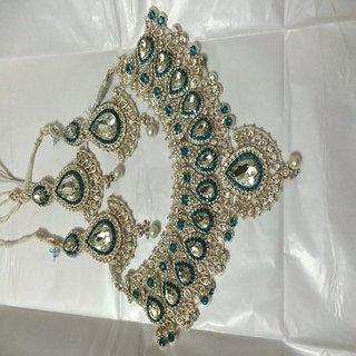 BFI Designer Bridal Jewellery Set With Mang Tika