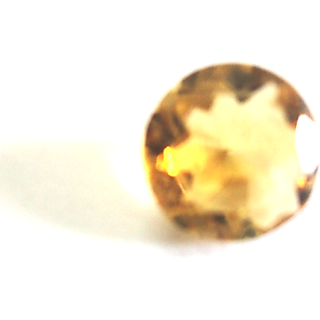 Shoppers Cave Facited Citrine Round Stone