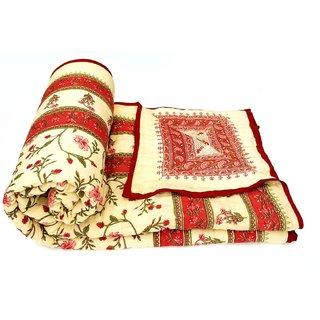 HOme Rajasthan Jaipuri Single Bed Cotton Razai / Quilt