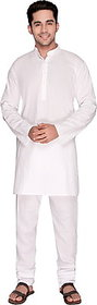 Anand kurta men's full  white