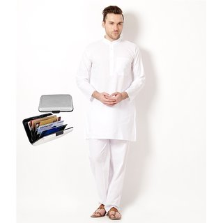 White  Kurta  Paijama Set