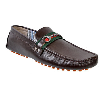 c51b17ffc80 Buy Hirels Brown Leather Driving Loafers Mocassions Online - Get 57% Off