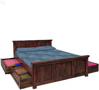 inhouz queen size bed (5x6.5) with storage