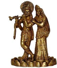 Love Couple Radha Krishan Glorious Statue Of Brass By Aakrati