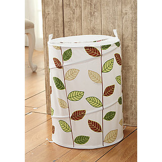 White,Green Poly Cotton Laundry Bag